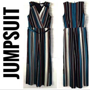 w/TAG MONTEAU Striped JUMPSUIT